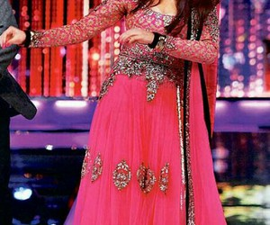 beautiful, bollywood, and pink dress image
