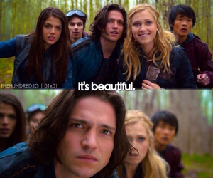 the 100, finn, and monty image