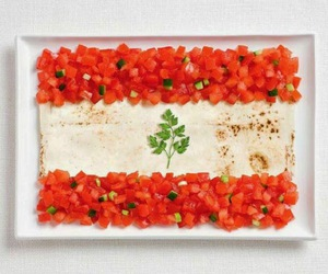 food, lebanon, and flag image