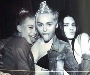 miley cyrus, kendall jenner, and hailey baldwin image