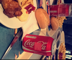 coca cola, food, and poulet image