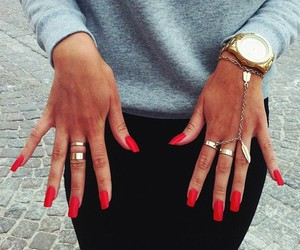 fashion, gold, and grey image