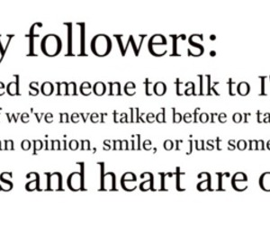 followers, heart, and talk image