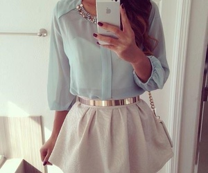 blue, pretty, and skirt image
