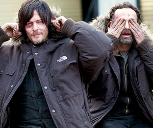 cast, norman reedus, and andrew lincoln image