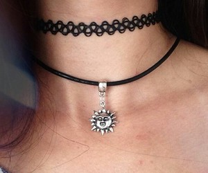 choker, grunge, and black image