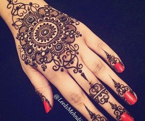 black, henna, and red image