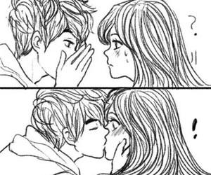 first kiss, smile, and kiss image