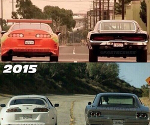 paul walker, cars, and Vin Diesel image