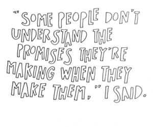 people, promises, and quote image
