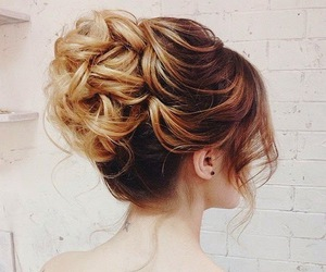 bun, elegant, and fashion image