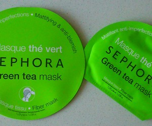beauty, face, and green tea image