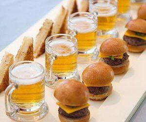 food, beer, and burger image