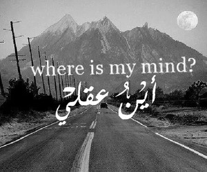 mind, black and white, and quote image