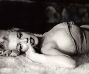 black and white and Marilyn Monroe image