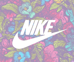 nike, flowers, and blue image