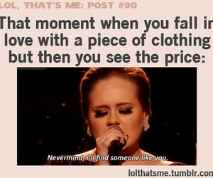 Adele, funny, and clothes image