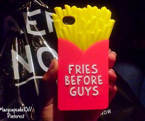 case, French Fries, and iphone image