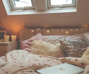 bed, bedroom, and need image