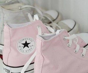 pink, rosa, and converse image