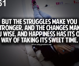 quote, Stronger, and www.staypositive.me image