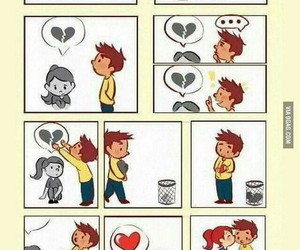 boy, broken heart, and funny image