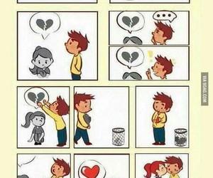 boy, broken heart, and fix image