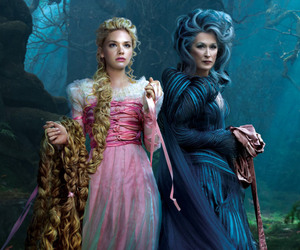 into the woods, meryl streep, and rapunzel image