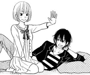 manga, girl, and tonari no kaibutsu-kun image