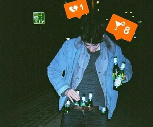 boy, drink, and grunge image