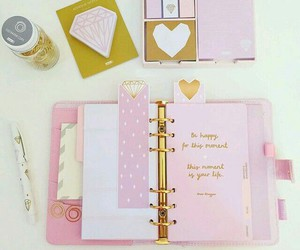 pink, school, and planner image