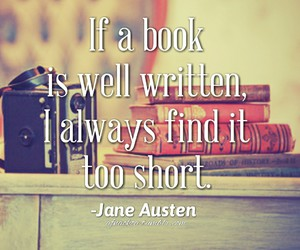 books, words, and jane austen image