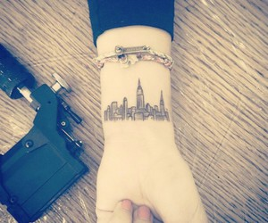tattoo, city, and new york image