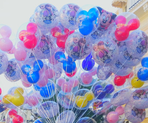 balloons, disney, and DISNEYWORLD image