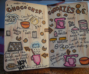 Cookies, drawing, and food image