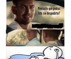 paul walker, tears, and Vin Diesel image