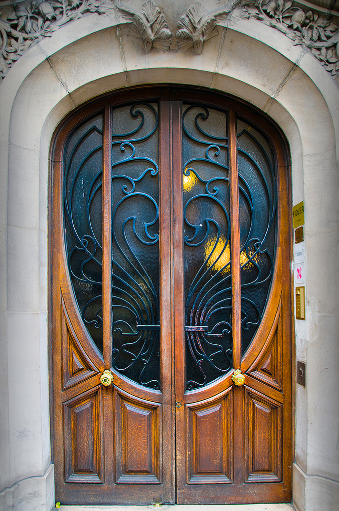 Art Nouveau, door, and france image