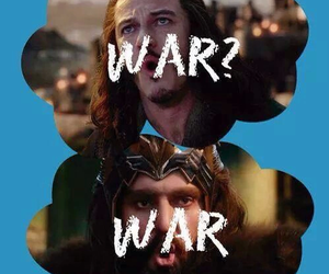 the hobbit, war, and thorin image