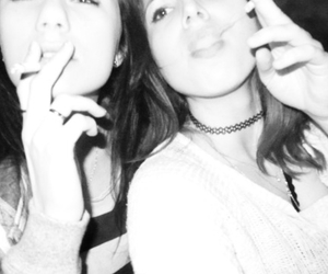 friendship, girls, and cigarets image