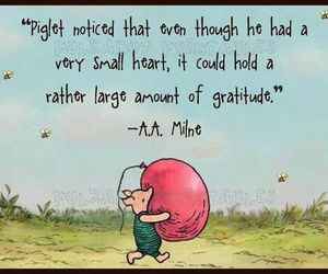 quote, gratitude, and piglet image