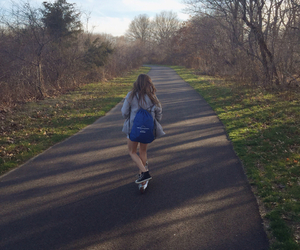girl, nature, and trail image