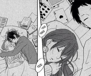 tonari no kaibutsu-kun, manga, and sleep image