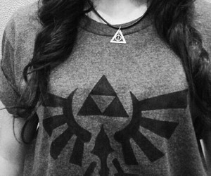 black and white, link, and shirt image