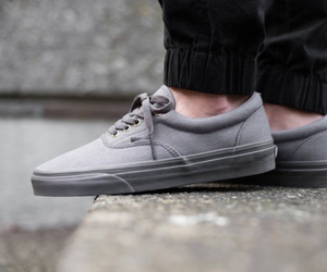 vans, fashion, and grey image