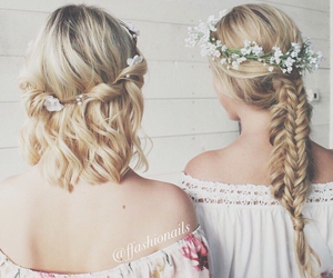 girls, pretty, and hair image
