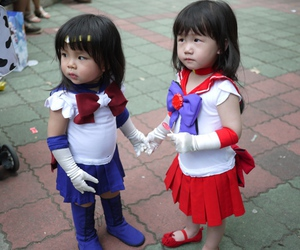 anime cosplay, kids cosplay, and sailor saturn cosplay image