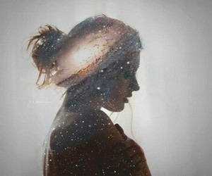 girl, art, and stars image