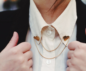 fashion, heart, and collar image