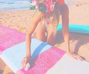beach, girl, and pastel image