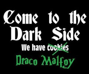 draco malfoy, harry potter, and dark side image